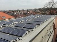 Fotovoltaïsche panelen in La Futaie